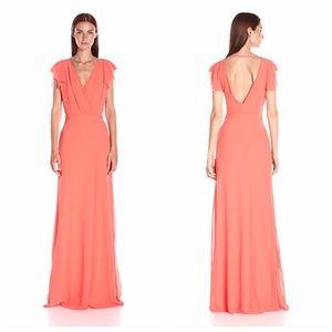 ERIN FETHERSTON Coral Contessa Maxi Dress NWT